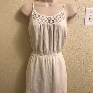Old navy white embroidered dress size small